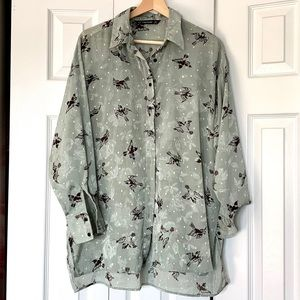 Zara shirt with bird print